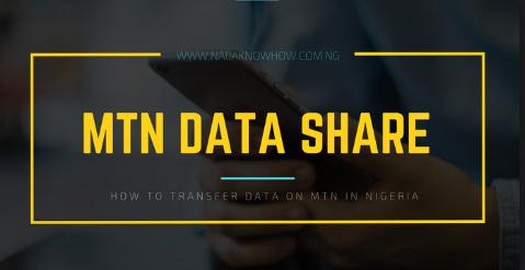 Transfer Data on MTN Nigeria