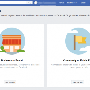 Create New Facebook Business Page